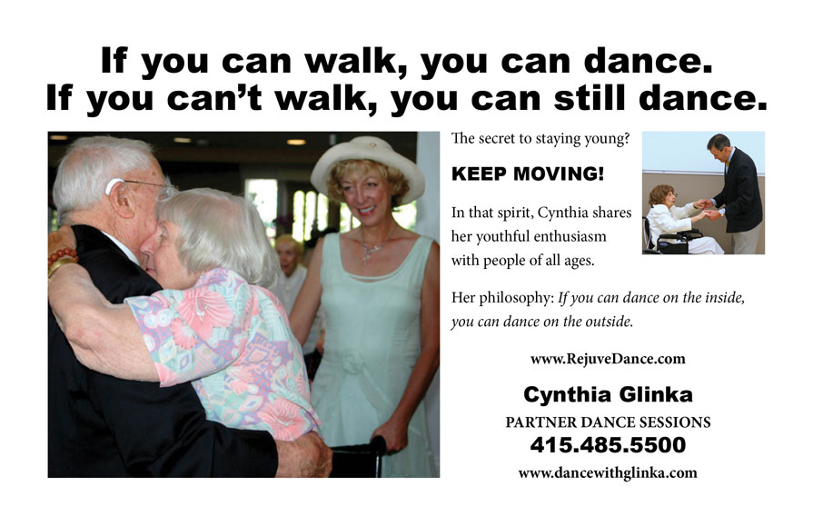 Elderly and Disabled people Can Dance, Dance Sessions, Cynthia Glinka, Bay Area