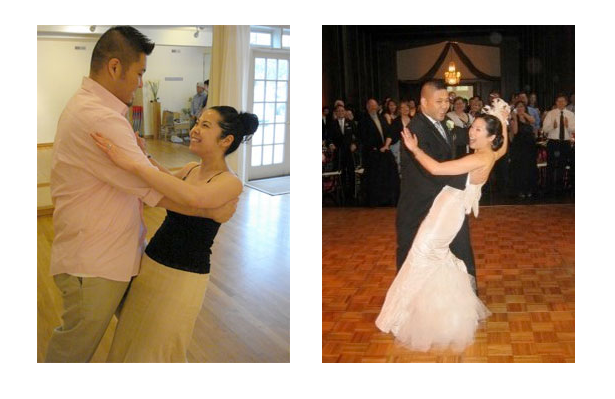 Wedding Dance Couple Before and After